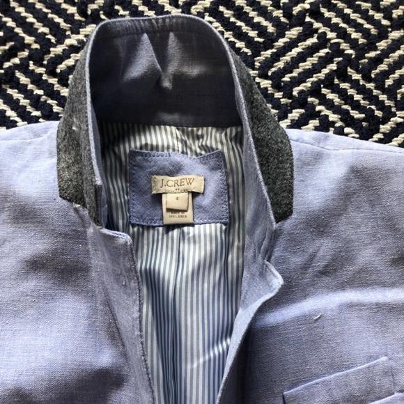 J. Crew Factory Jackets & Blazers - Linen Light Blue Blazer
